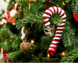 Crochet Candy Cane Ornament