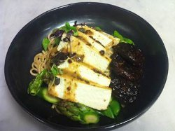 Soba Noodles with Ginger-Roasted Tofu and Vegetables ...