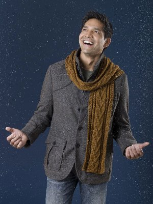 Men S Combo Cable Scarf Pattern Allfreeknitting Com