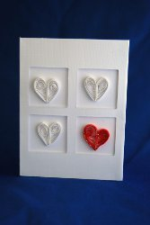 One of a Kind Quilled Heart Card