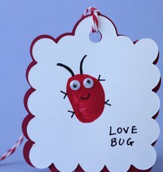 Love Bug Thumbprint Valentines