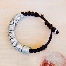 Washers and Macrame Bracelet