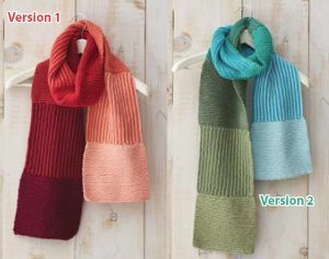 Shifting Colors Dishcloth Scarf