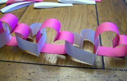 Paper and Staples Heart Garland