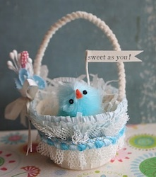 Birdie Easter Basket from a Nut Cup