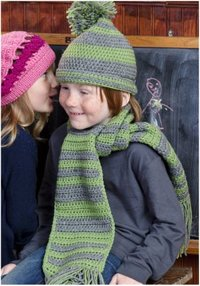 Little Boy's Hat and Scarf Set