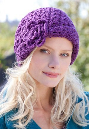 Blooming Purple Beanie