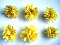 Mini Felt Pom Flowers