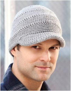 Men's Brimmed Crochet Hat