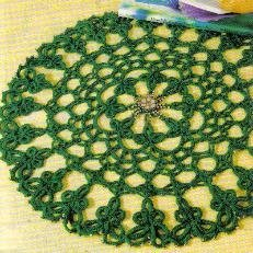 Beaded Shamrock Doily
