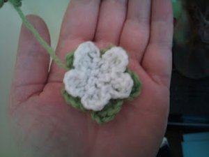 Tiny White Crochet Flower