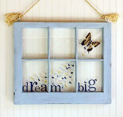 Dream Big Butterfly Window