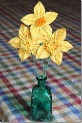 Blooming Fabric Daffodils