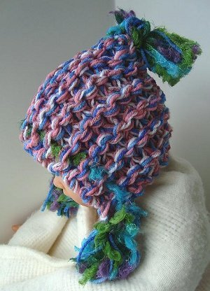 Knit this charming and warm hoodie knit hat pattern for the whole family!  This free e7633a2efba