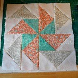 Flying Geese Pinwheel Block Pattern Favequilts Com