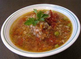 Slow it Down Beef Barley Soup