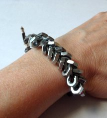 DIY Hex Nut Bracelet