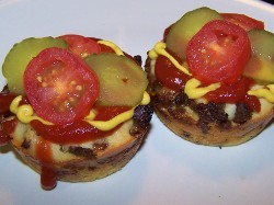Mini Bacon Cheeseburger Impossible Pies