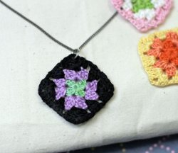 Tiny Granny Square Necklace