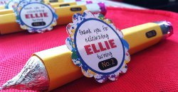 Edible Pencil Party Favors