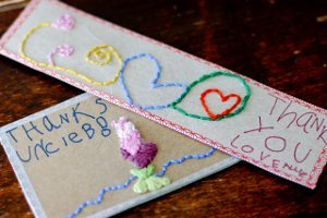 Hand Embroidered Cards
