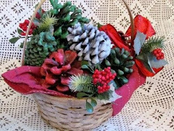 Pinecone Firestarter Christmas Gift Basket
