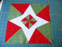 Christmas Star Quilt Block