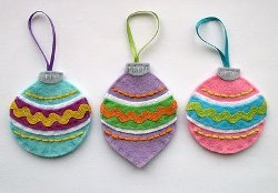 Vintage Felt Bauble Ornaments