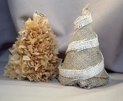 Simple Burlap Christmas Tree