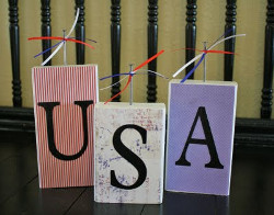 Patriotic Decorative Blocks
