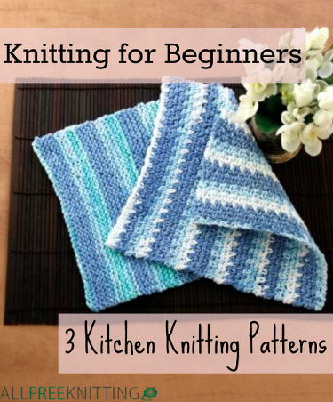 Learn How to Knit with a Knit Dishcloth Pattern: 10 Patterns for Beginners ...