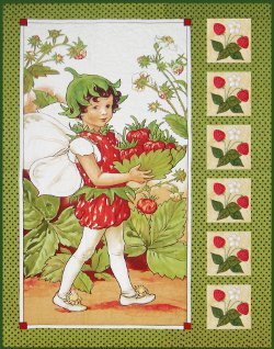 Strawberry Fairy Panel Quilt