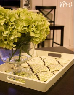 Chic Tufted Serving Tray