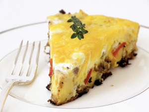 Sausage, Pepper, and Onion Frittata