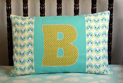 Applique Initial Pillow