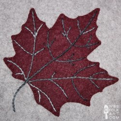 Maple Leaf Applique Block