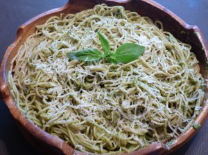 Fresh Homemade Pesto Pasta