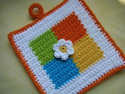 Colored Squares Potholder