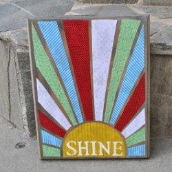 Sunshine Stencil Sign