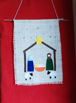 Felt Nativity Banner AllFreeChristmasCrafts