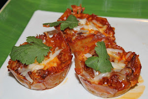 Cheesy Enchilada Cupcakes