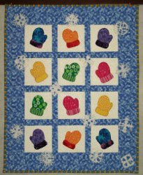 Adorable Winter Mittens Wall Hanging