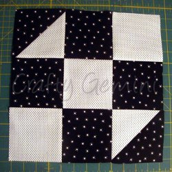 Black and White Hourglass Block