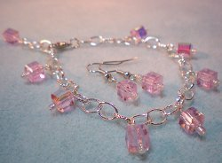 Pretty Pink Cube Bead Set
