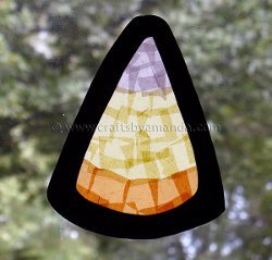 Beautiful Tissue Paper Candy Corn Art
