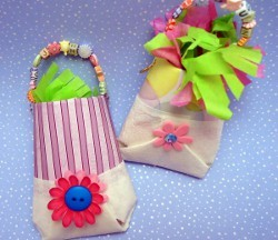 Cardboard Tube Party Favor Pouches