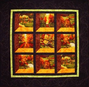 Changing Seasons Attic Window Quilt Pattern Favequilts Com
