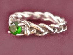 Braided Ring with Setting
