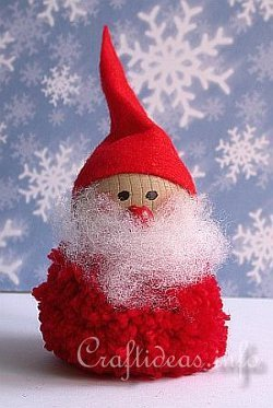 Pom Pom Santa Decoration