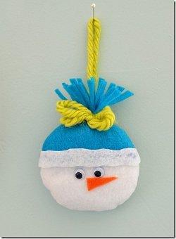 Felt Snowman Ornament Allfreechristmascrafts Com